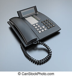 Black Business phone - Black business telephone receiver