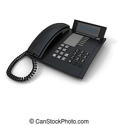 Landline phone - Black business telephone receiver