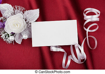 Wedding picture with a  card for your text