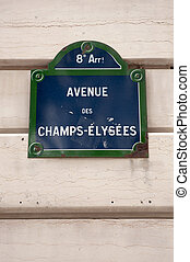 Avenue des Champs-Elysees plaque - Street plate for Avenue...