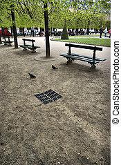 Place des Vosges park - Park inside the Place des Vosges in...