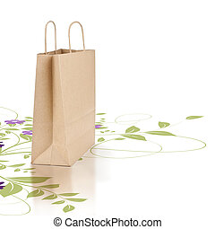 Green and eco friendly paper shopping bag