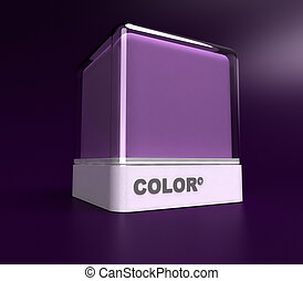 Purple color block - Design block in a purple color