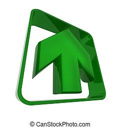 Arrow in green