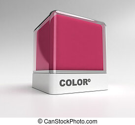Magenta color block - Design block in magenta color