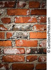 Brickwall - Close up of red brickwall