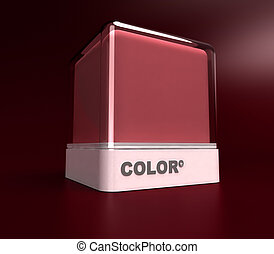 Burgundy color block - Design block in a burgundy red color
