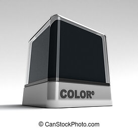 Black color block - Design block in a black color