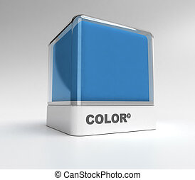 Blue color block - Design block in blue color