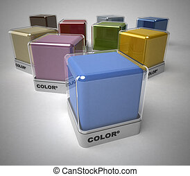 Color selection - Design color blocks in a variety of colors