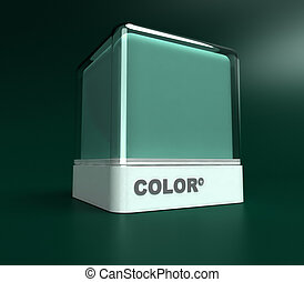 Green color block - Design block in a green color