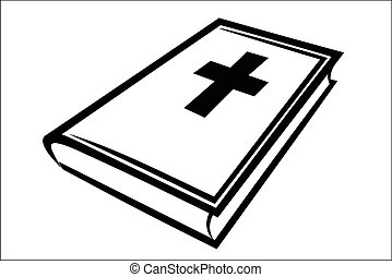 Holy bible - Vector illustration : Holy bible on a white...