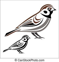 House sparrow - Vector illustration : House sparrow on a...: www.canstockphoto.com/illustration/sparrow.html