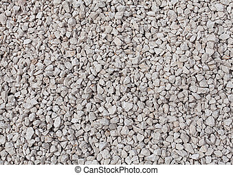 background of crushed stone close up