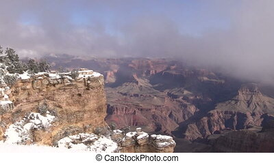 Grand Canyon Winter Landscape - the scenic landscape of the...
