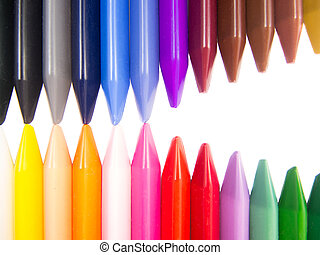 full color crayon mouth full open arrangement