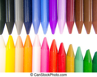 full color crayon mouth half open arrangement
