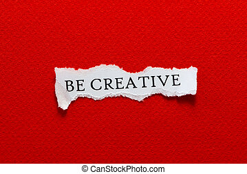 be creative paper red