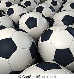 Background of soccer balls - Lots of soccer balls together...