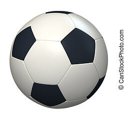 Soccer ball against white background - 3D rendering of a...