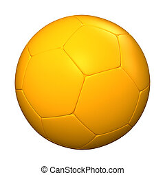 Orange soccer ball - 3D rendering of an orange soccer ball...