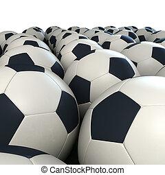 Soccer balls arrangement - Arrangement of soccer balls...