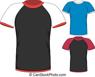Vector Mens short sleeve t-shirt design templates - Vector...