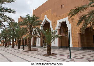 Mosque in At Turaif district, Saudi Arabia.