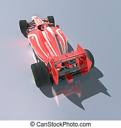 racing car - Rendering of a red race car