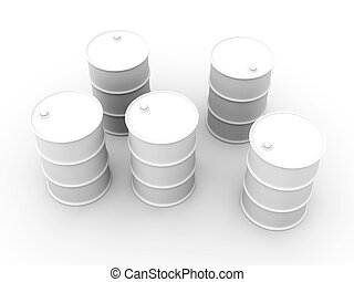 Oil Barrels - 3D rendered Illustration.