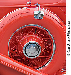 Spare wheel - Vintage luxury car spare wheel