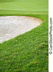 Golf sand trap - Picture of a golf course, sand trap