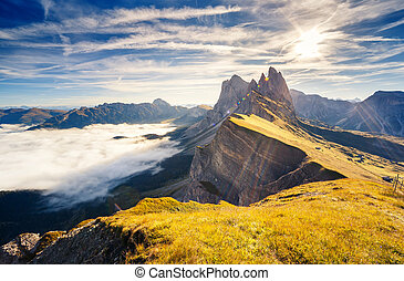 magical mountain landscape - Great view on the Odle -...