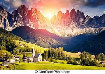 unusual mountain landscape - Countryside view of the St...