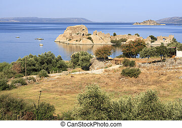 Bafa Lake - Aydin - Turkey - Bafa Lake landscape with great...
