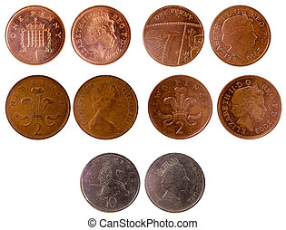 different old british coins
