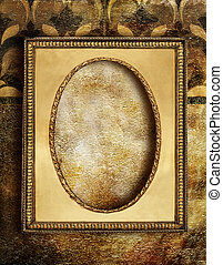 Gold Decorative Background - Vintage Background With Frame