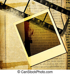 Grungy Background With Frame - Artwork in Retro Style