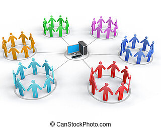 Network - Image-concept of Teamwork. White background.