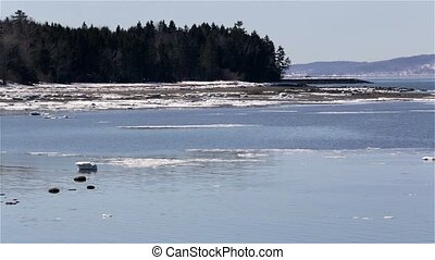 View of tip of Sears Island - Video of early spring at Sears...