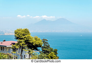 gulf of naples - the gulf of naples during summer time