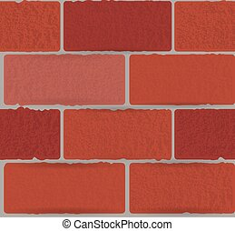 concrete red blocks on a grey background seamless