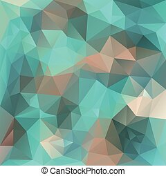 vector polygonal backgroundpattern - triangular design in ice colors - blue and beige