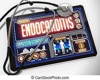 Endocarditis on the Display of Medical Tablet. -...