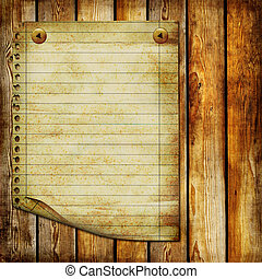 Woode Paper Background - Artwork in Retro Style