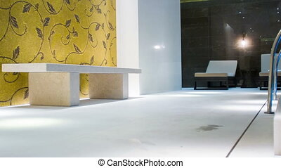 stone interior in the bathroom - very relaxing atmosphere ....
