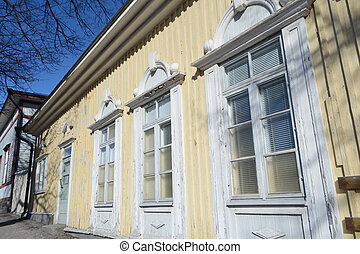 Old wooden building in Lappeenranta. - Old wooden rural...