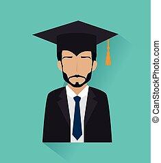 Education design - Education design over blue background,...