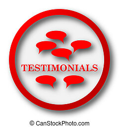 Testimonials icon Internet button on white background