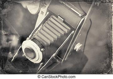 Antique Camera - Antique accordion lens autographic fold-out...